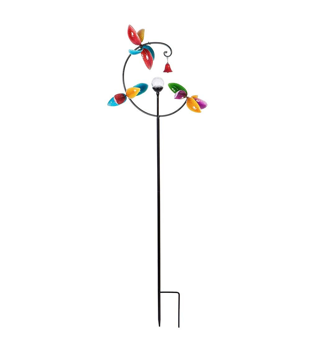 """82.5""""H Solar Wind Spinner with Bell"""