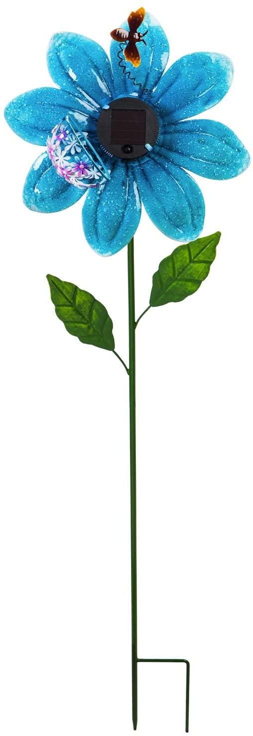 """38""""H Secret Solar Garden Stake, Blue"""