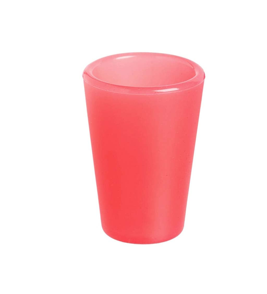 Cypress Home Solid Watermelon Silicone Shot Glass, 1.5 ounces