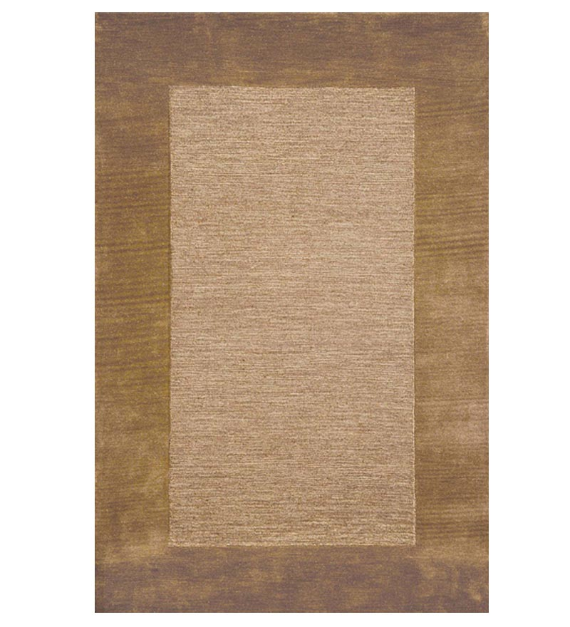 2' x 4' Madrid Banded Rectangular Hearth Rug, in Chocolate