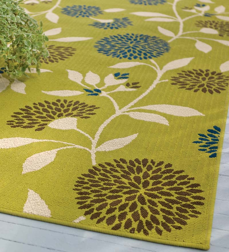 Outdoor Rug 7 X 10: Floral Indoor / Outdoor Polypropylene Surry Area Rug, 7'10