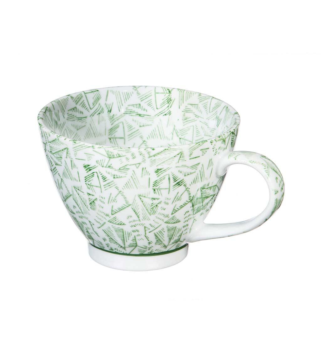 Green Jasmine 15-oz Ceramic Coffee Cup