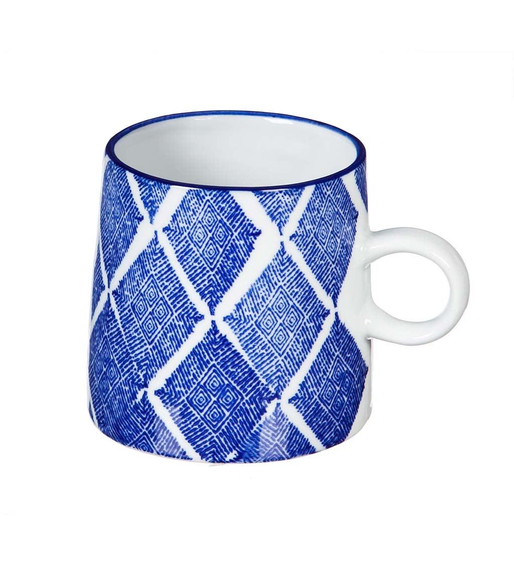 Dark Blue Capri 10-oz Ceramic Coffee Cup