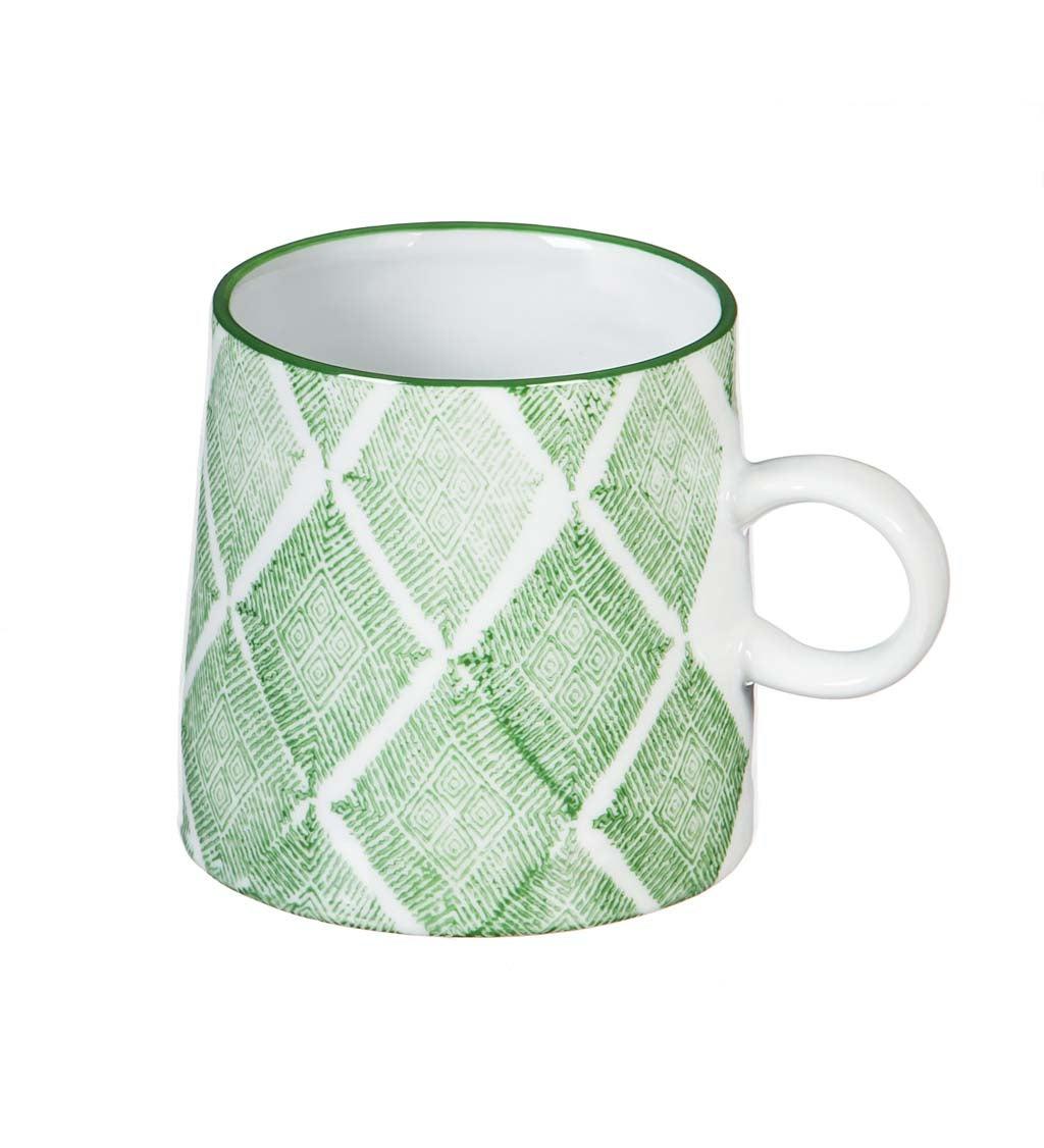 Green Capri 10-oz Ceramic Coffee Cup
