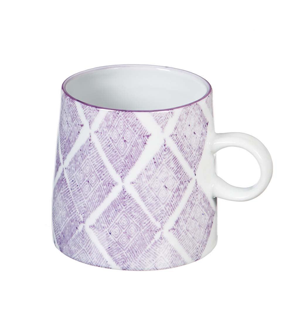 Purple Capri 10-oz Ceramic Coffee Cup
