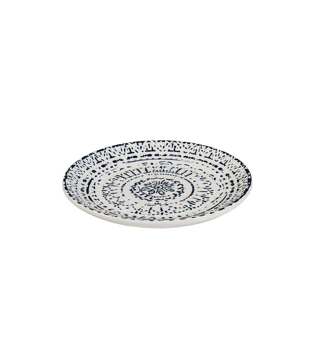Inkwell Ceramic Debossed Salad Plate