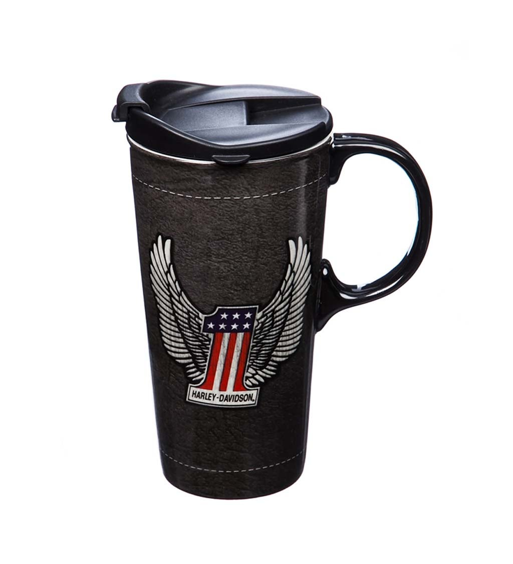 Harley Davidson Ceramic Travel Mug