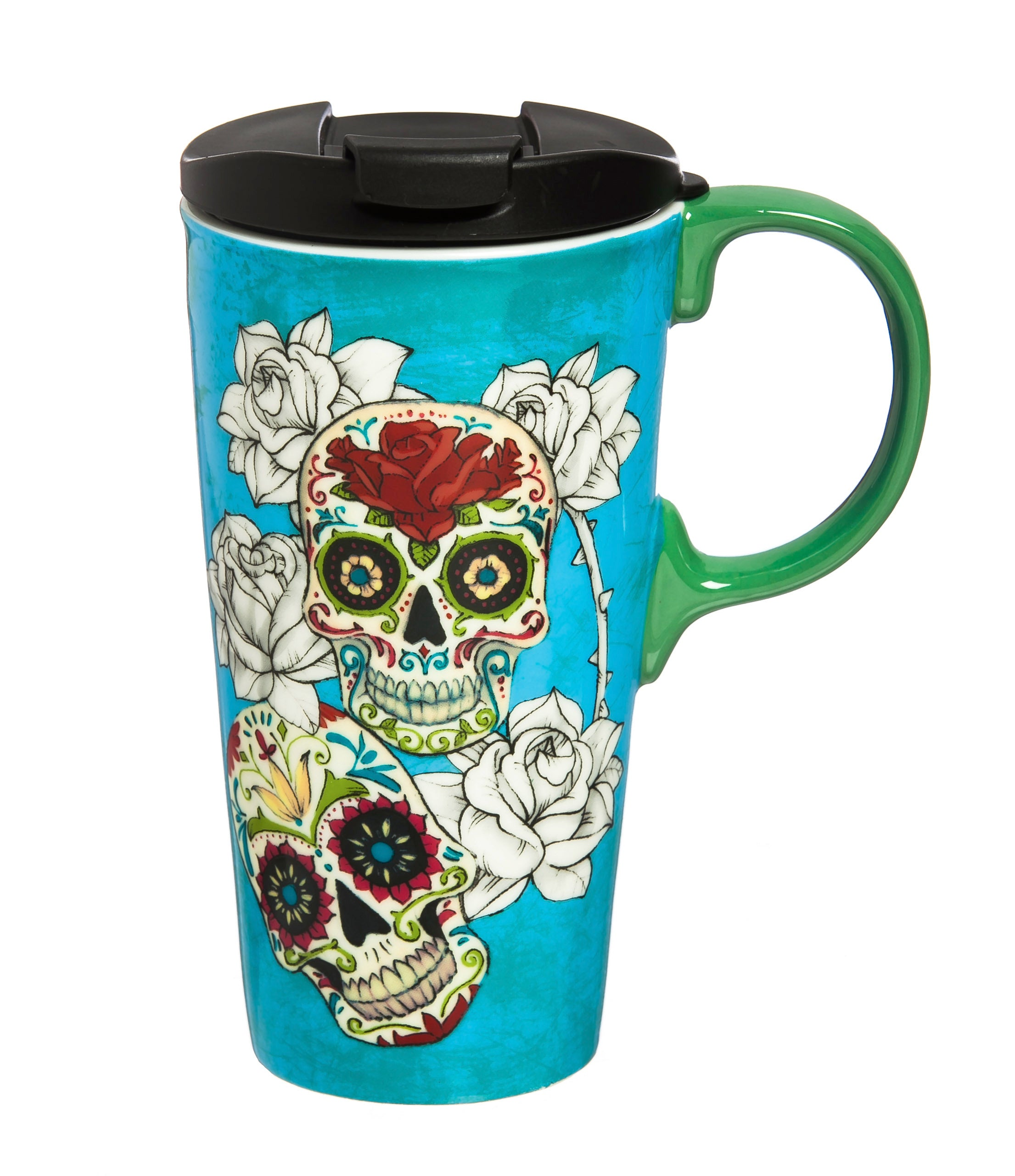 Day of the Dead Ceramic Travel Mug
