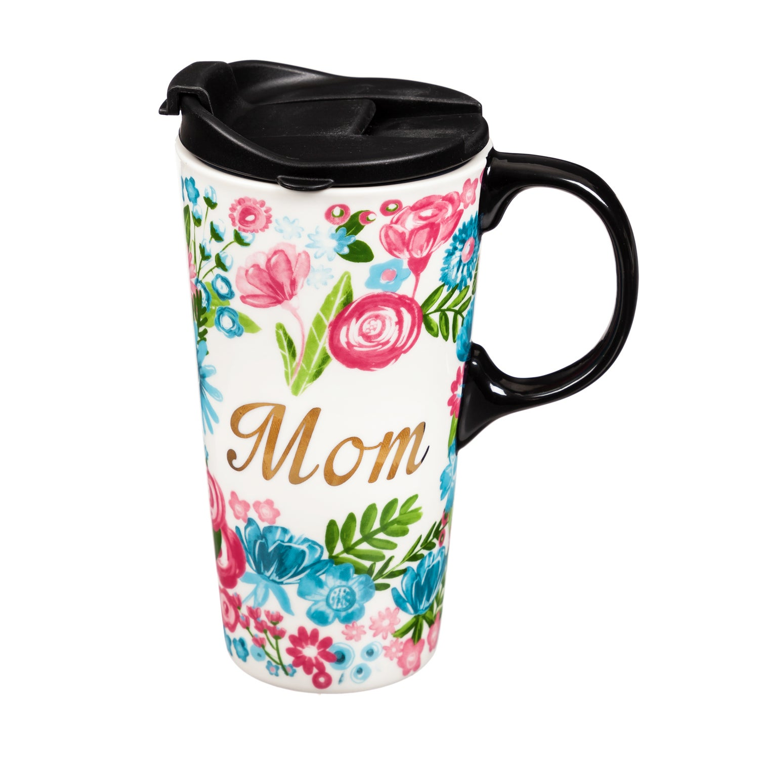 Mom Ceramic Travel Coffee Cup