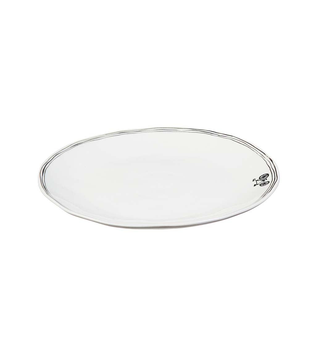 Bon Appétit Ceramic Lunch Plate