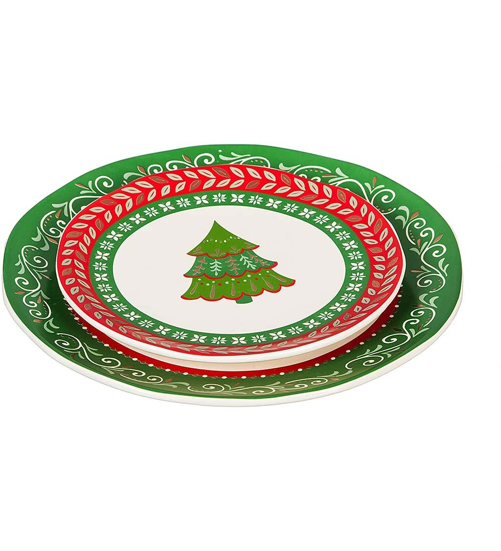 Christmas Traditions Ceramic Dinner Plate