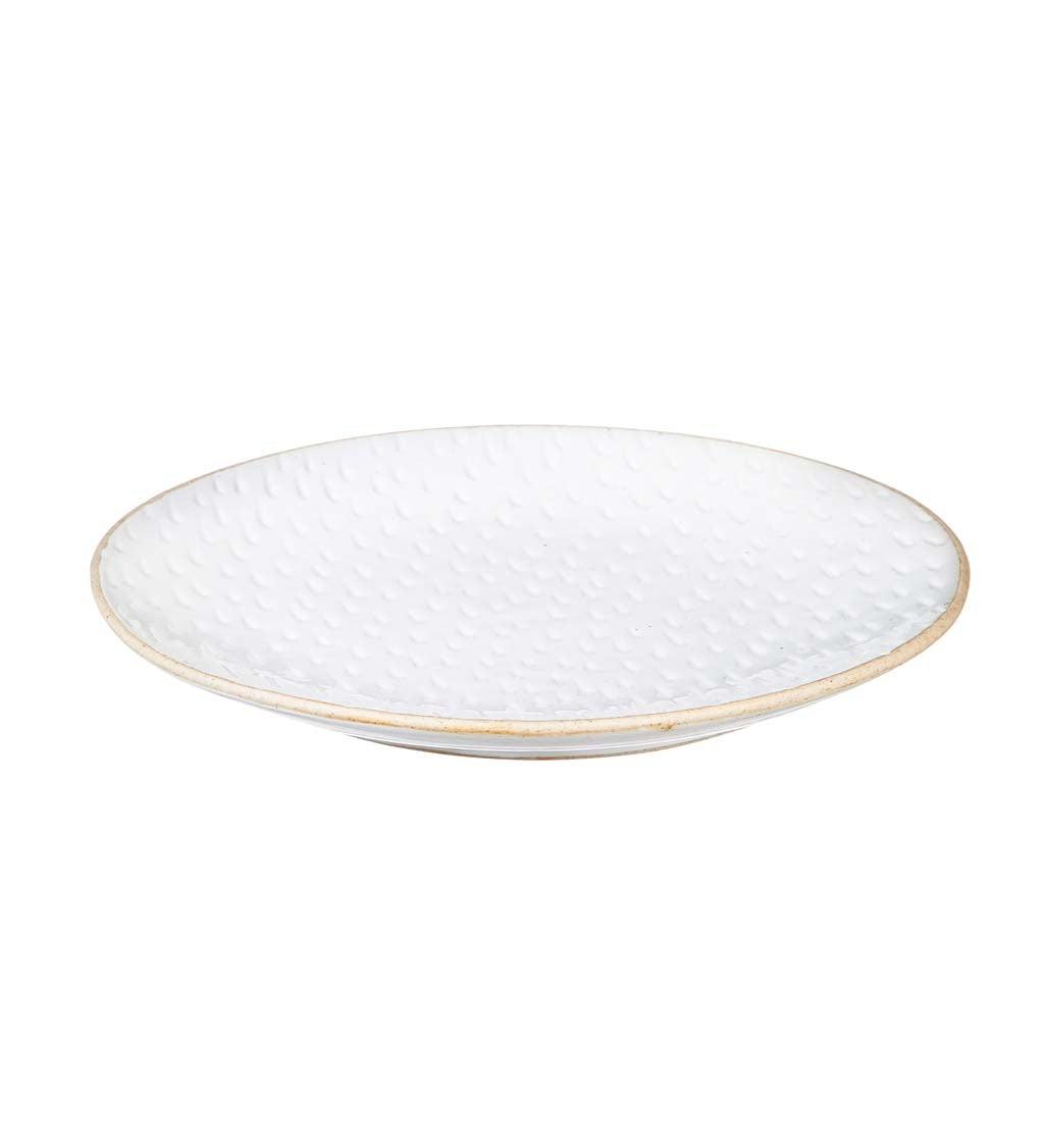 Picket Porcelain Debossed Ceramic Dinner Plate