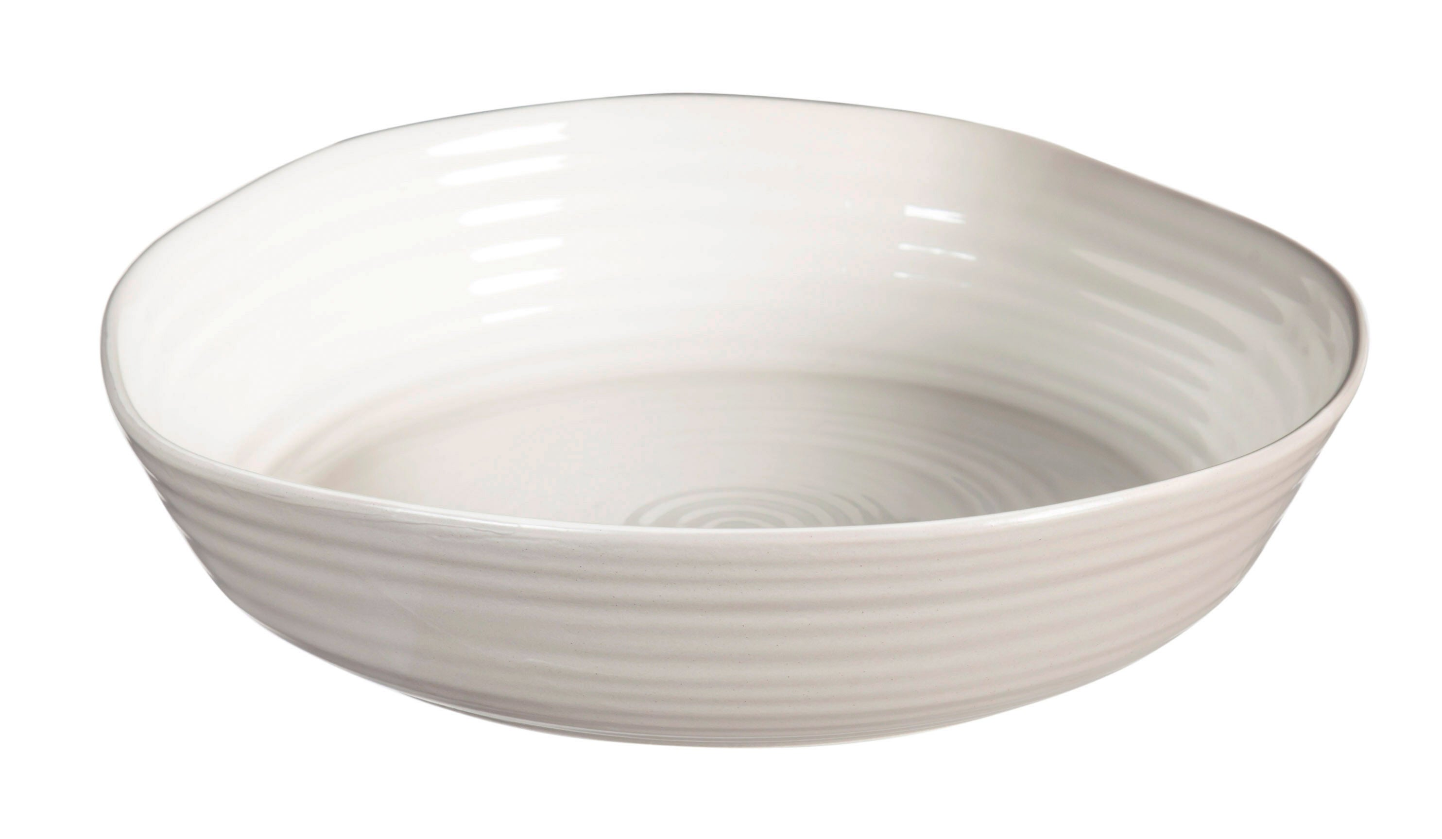 Shiloh Ceramic Embossed Serving Bowl