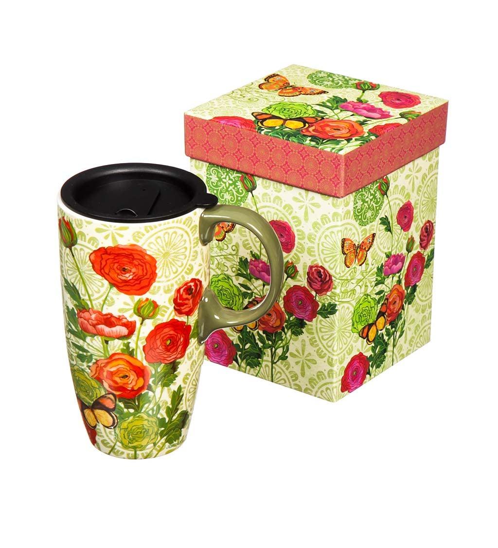 Botanica Ceramic Latte Travel Mug