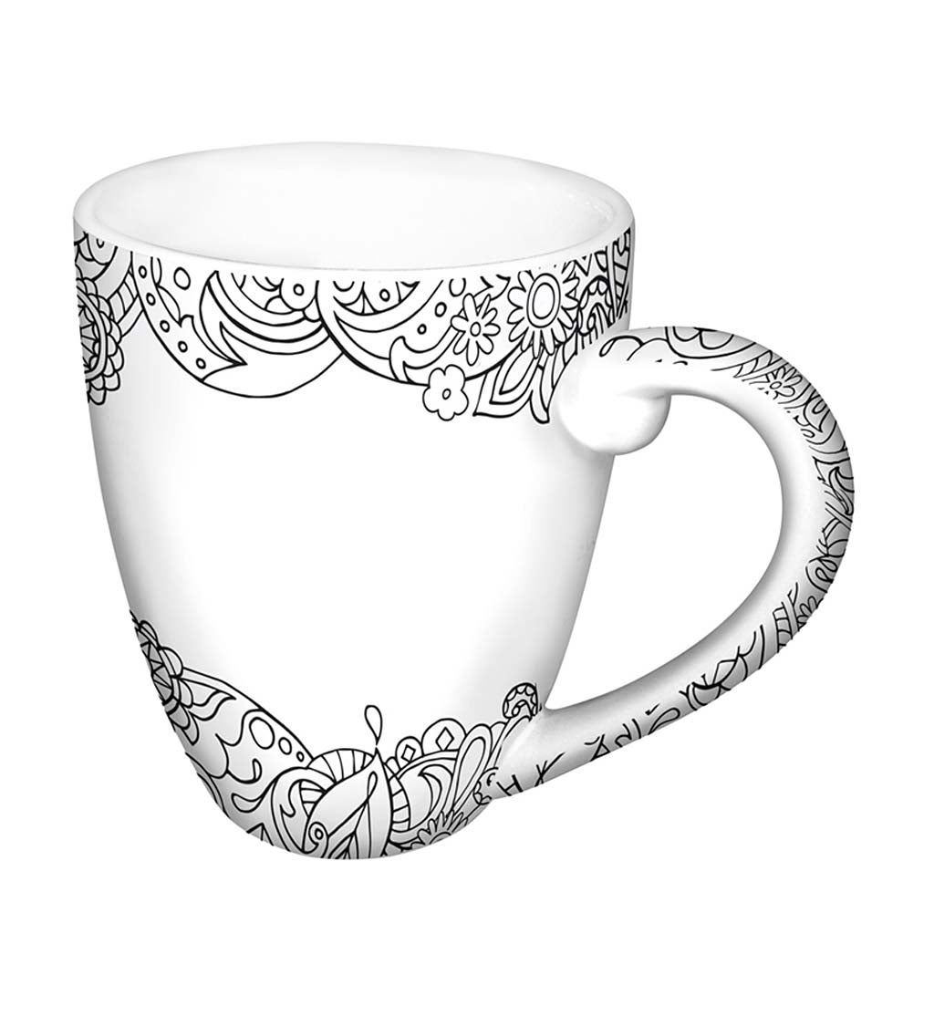 Cypress Home Blank Space Personalizable Ceramic Coffee Mug, 18 ounces