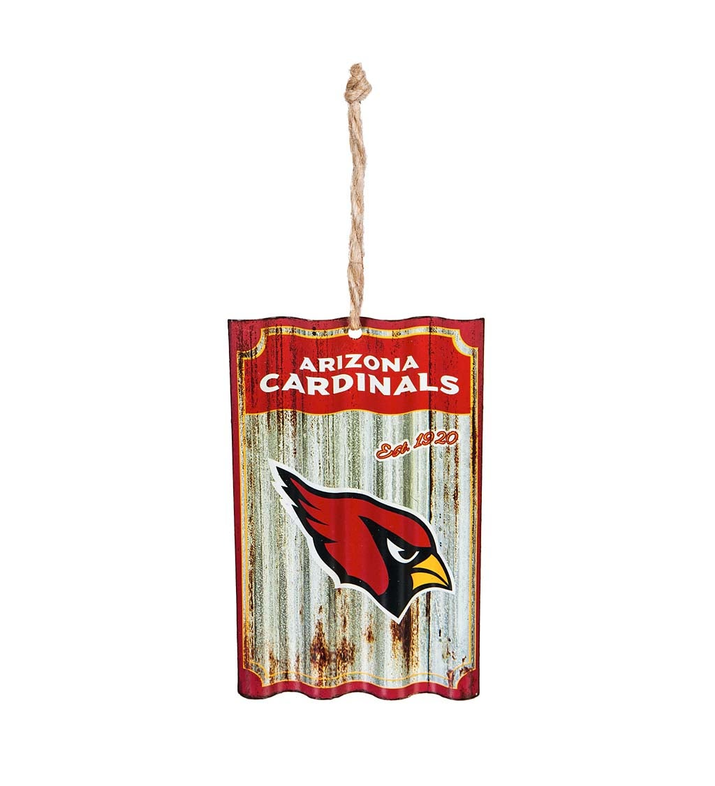 Arizona Cardinals Corrugated Metal Ornament