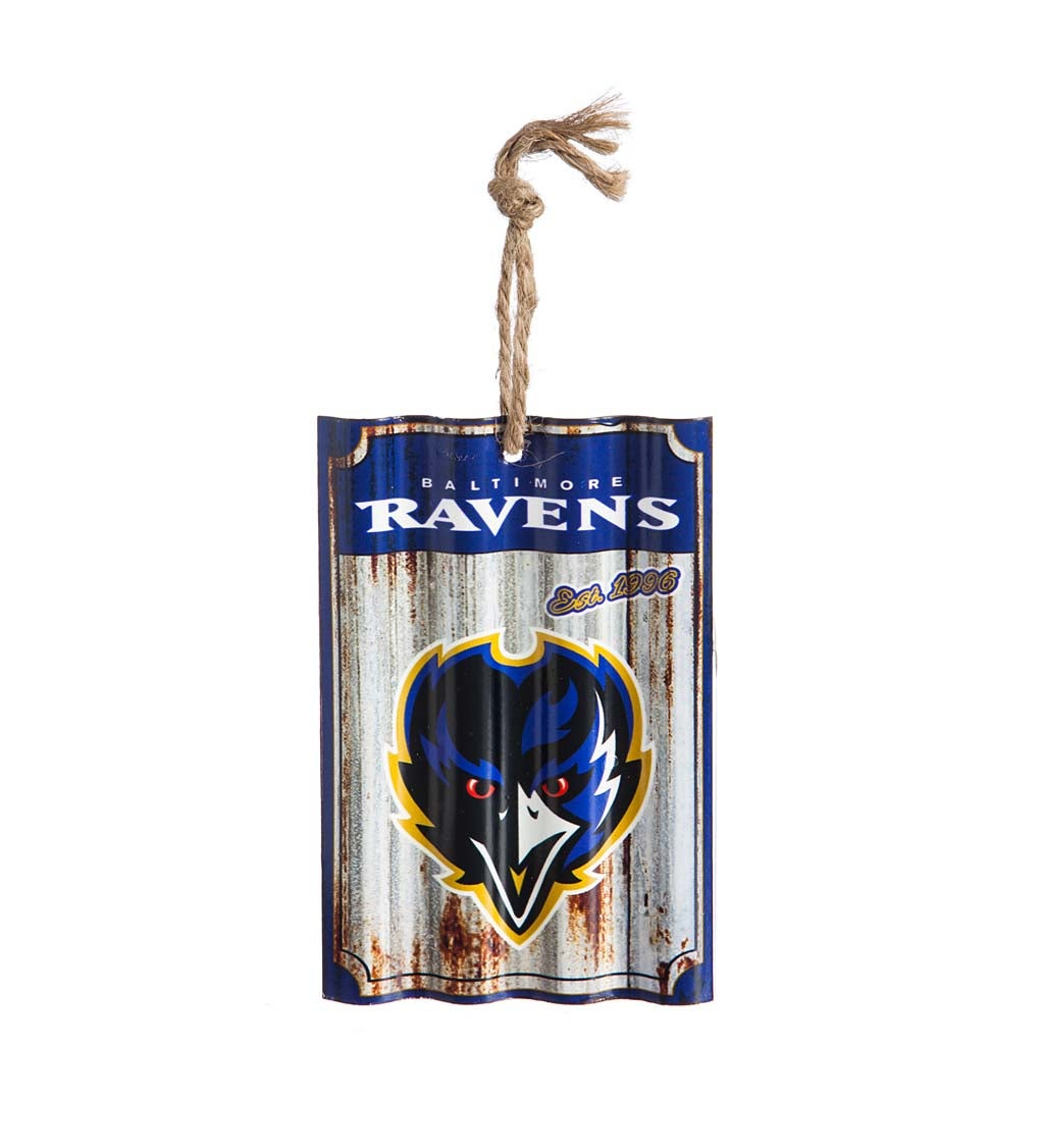 Baltimore Ravens Corrugated Metal Ornament