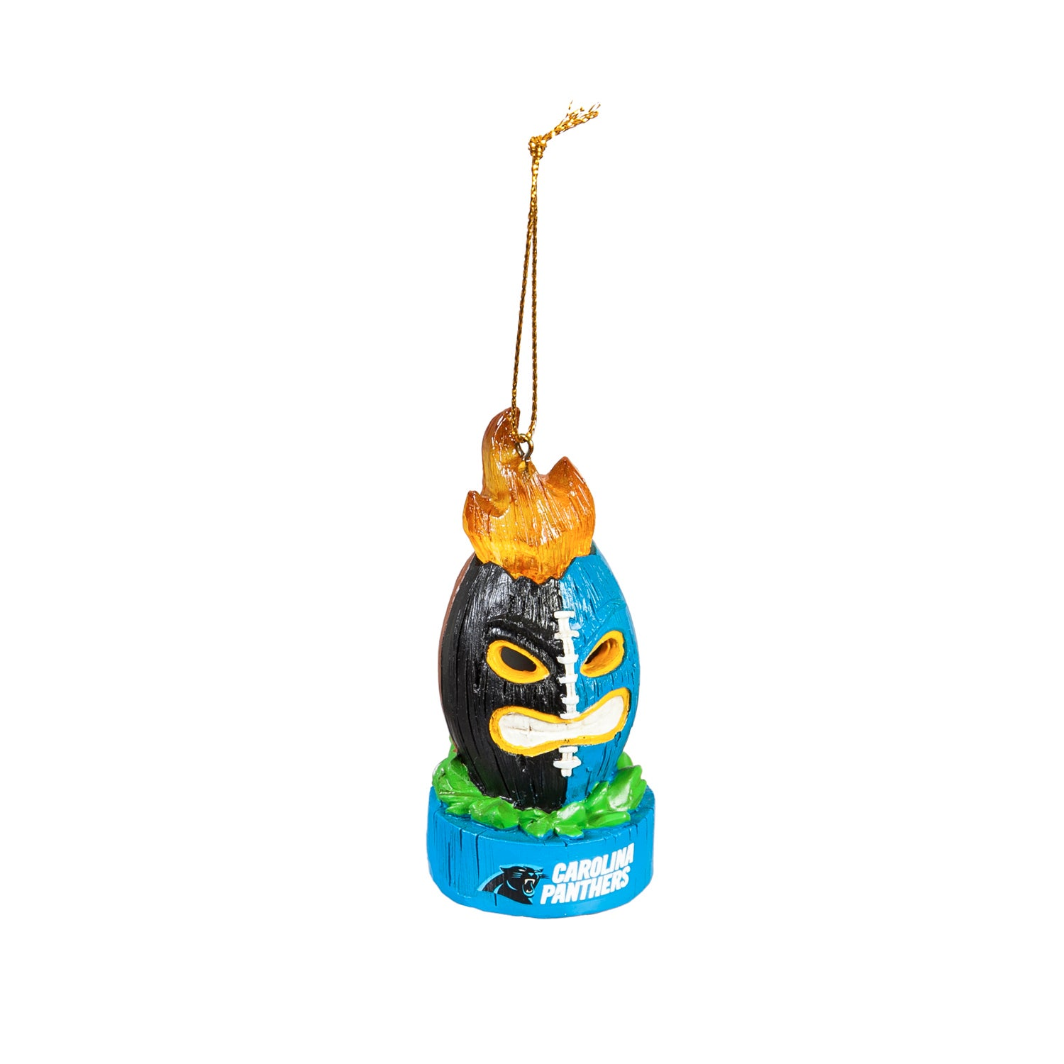 Carolina Panthers Lit Team Ball Ornament