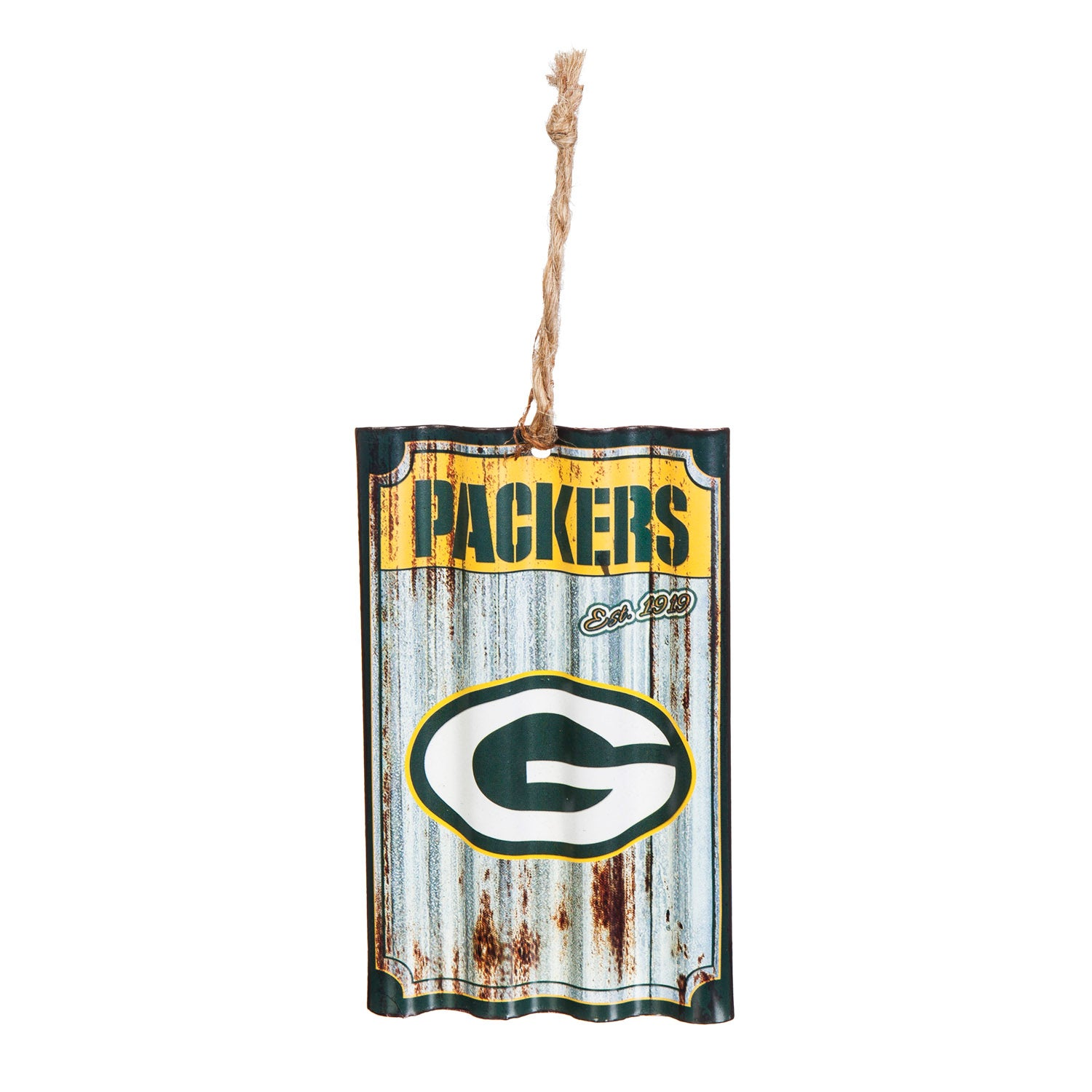 Green Bay Packers Corrugated Metal Ornament