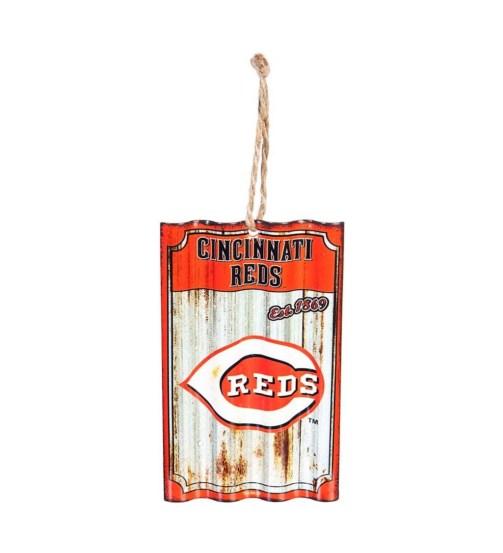 Cincinnati Reds Corrugated Metal Ornament