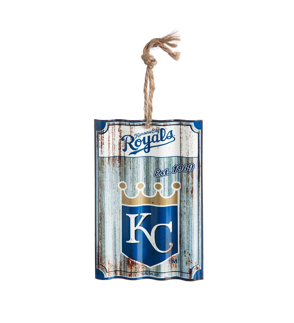 Kansas City Royals Corrugated Metal Ornament