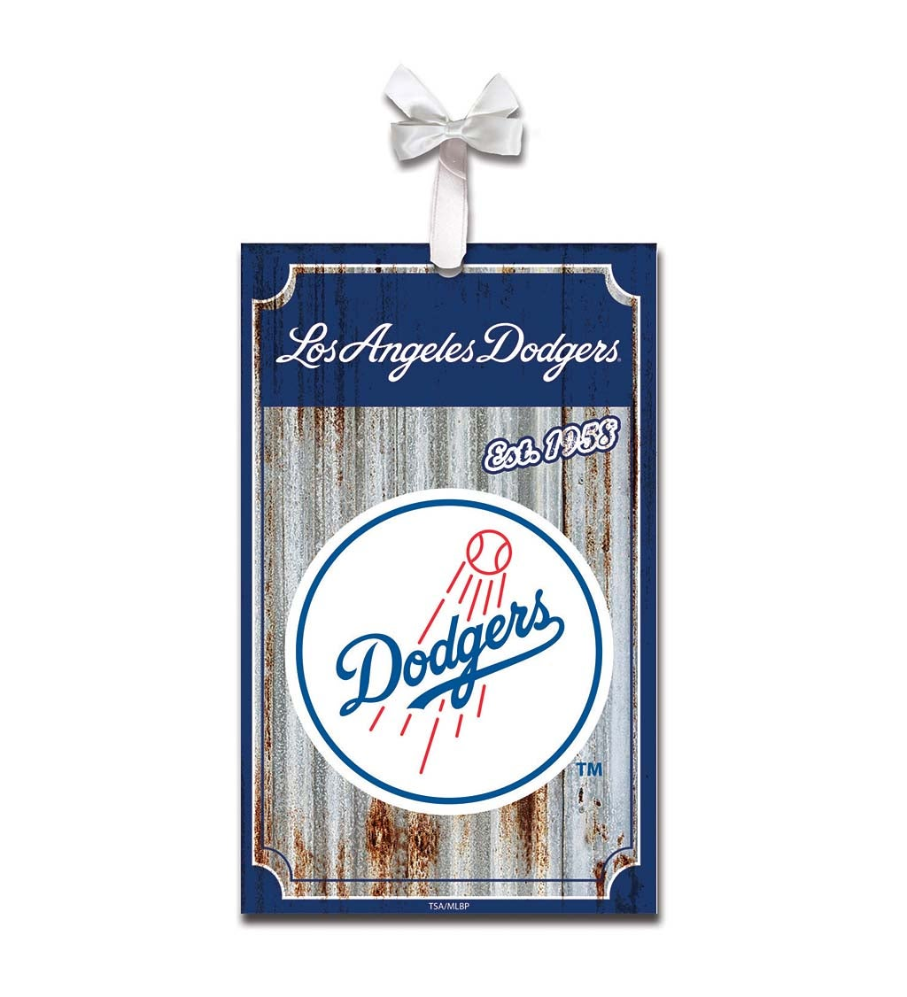 Los Angeles Dodgers Corrugated Metal Ornament