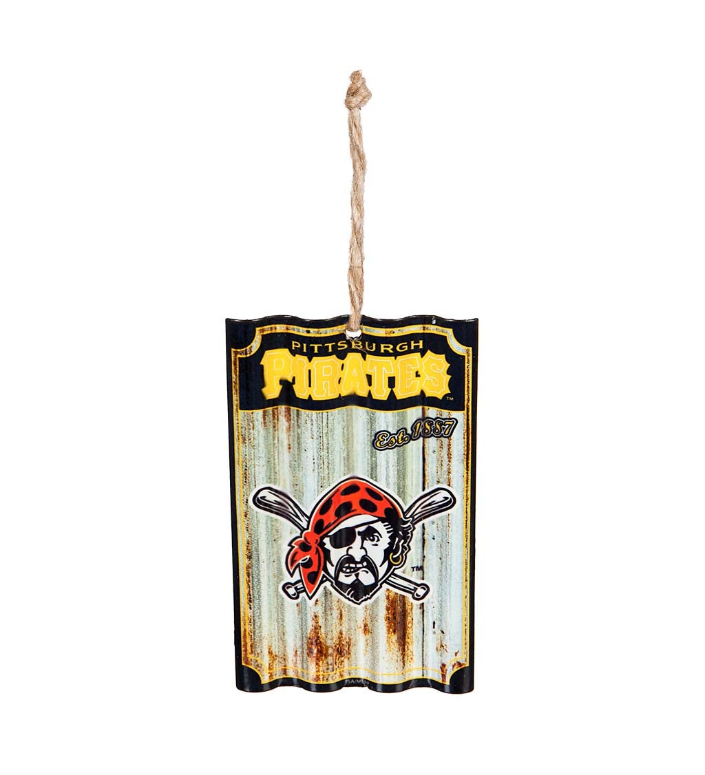 Pittsburgh Pirates Corrugated Metal Ornament