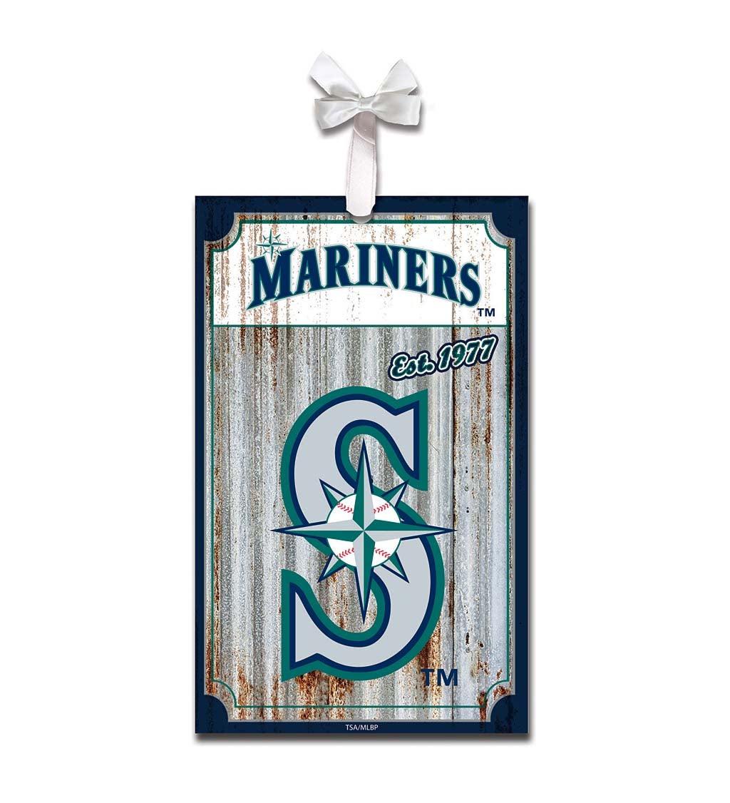 Seattle Mariners Corrugated Metal Ornament