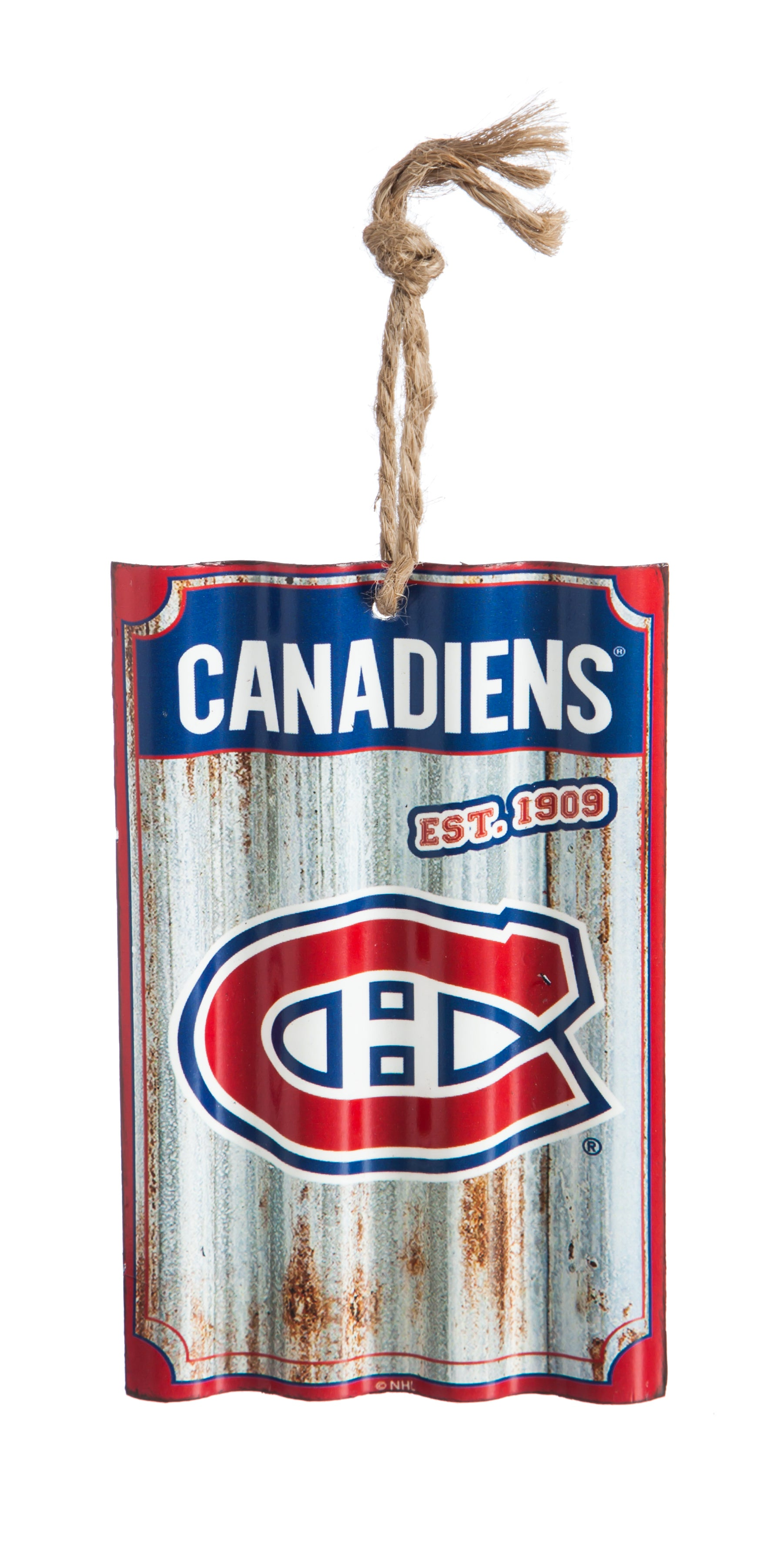 Montreal Canadiens Corrugated Metal Ornament