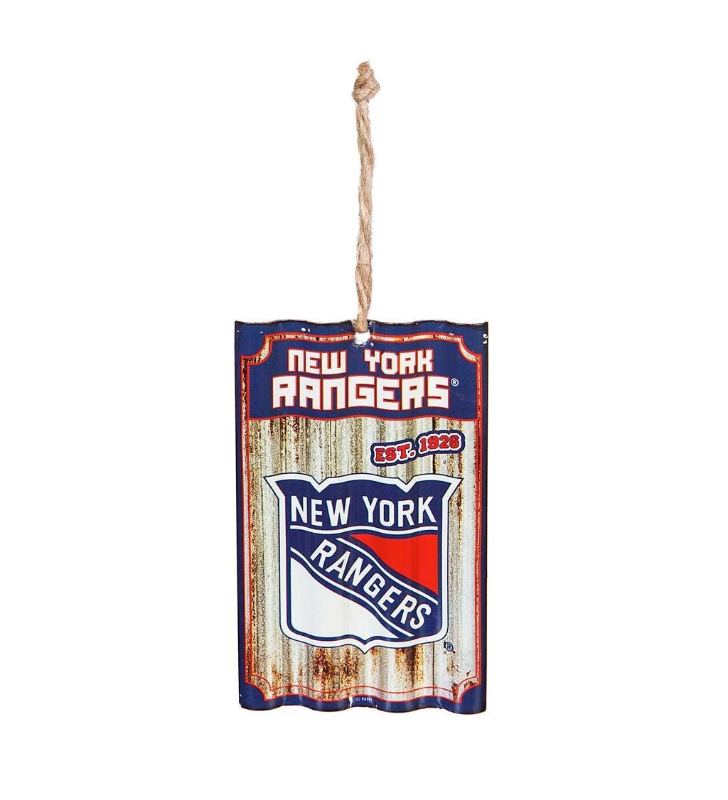 New York Rangers Corrugated Metal Ornament