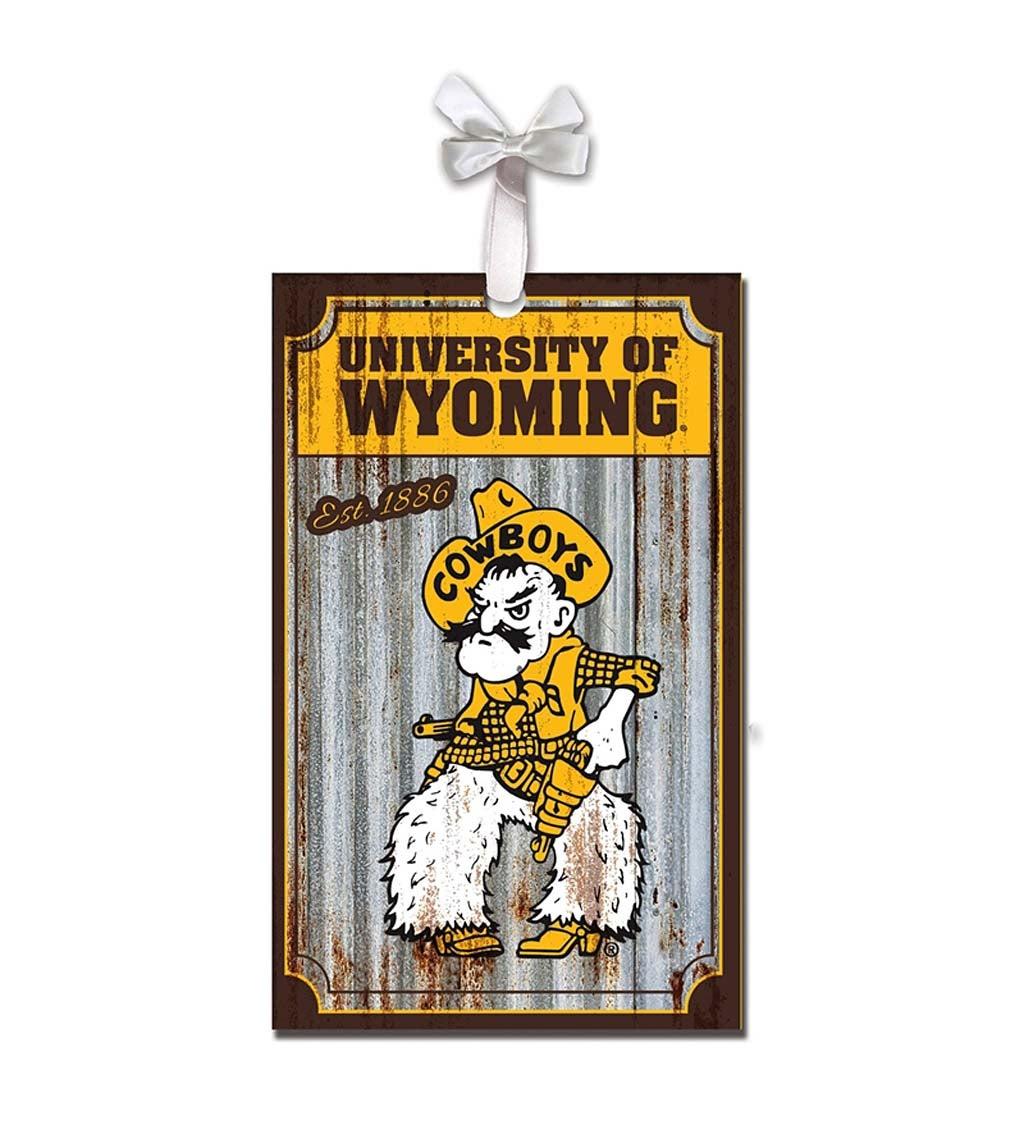 University of Wyoming Corrugated Metal Ornament