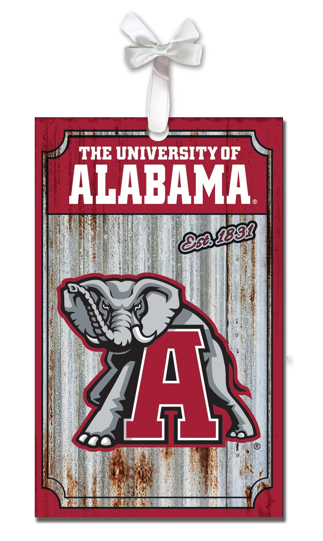 University of Alabama Corrugated Metal Ornament