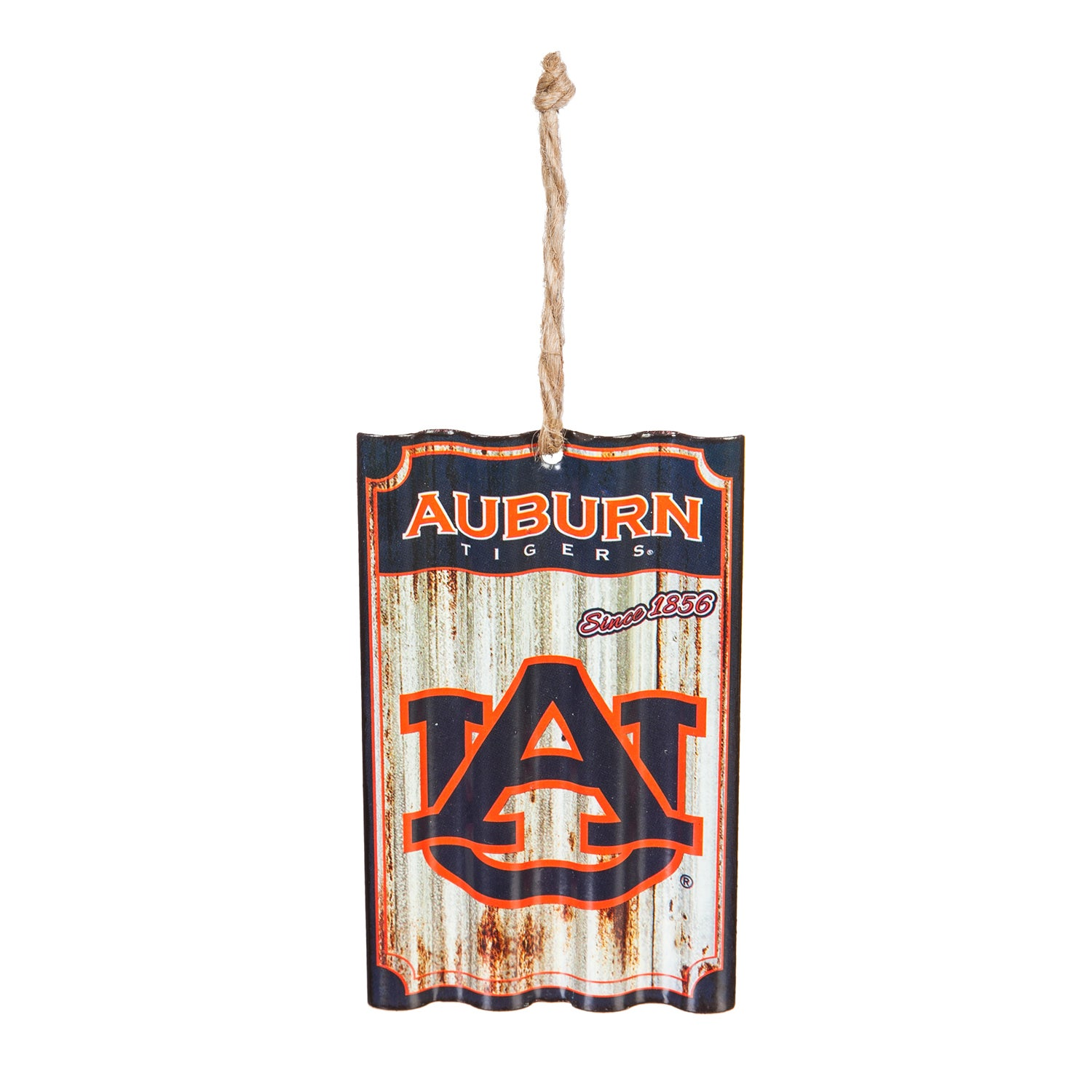 Auburn University Corrugated Metal Ornament