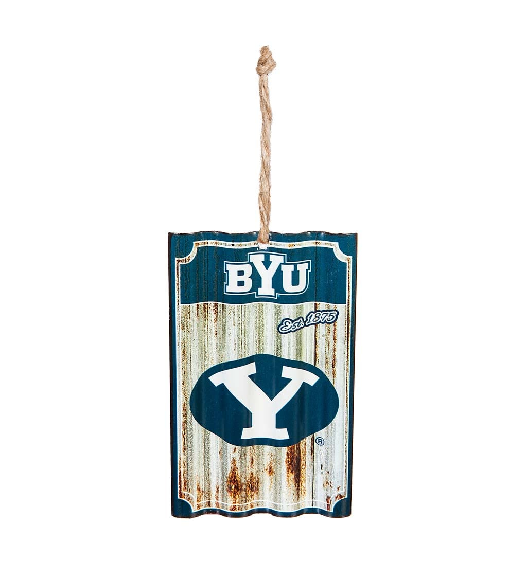 Brigham Young University Corrugated Metal Ornament