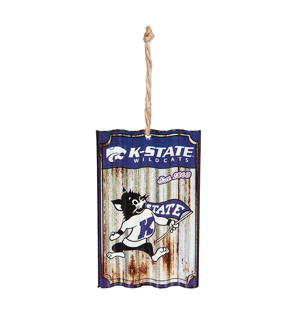 Kansas State University Corrugated Metal Ornament