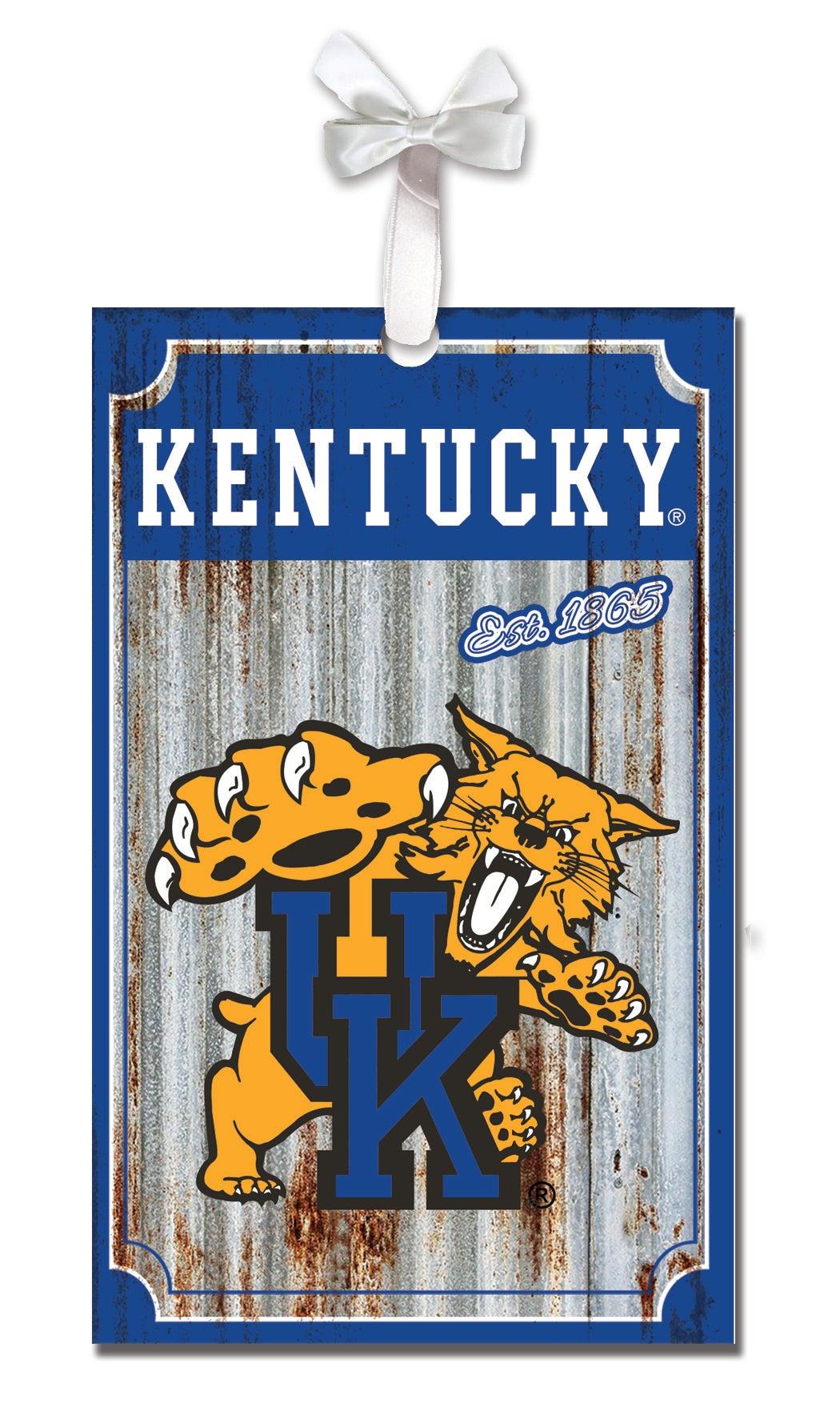 University of Kentucky Corrugated Metal Ornament