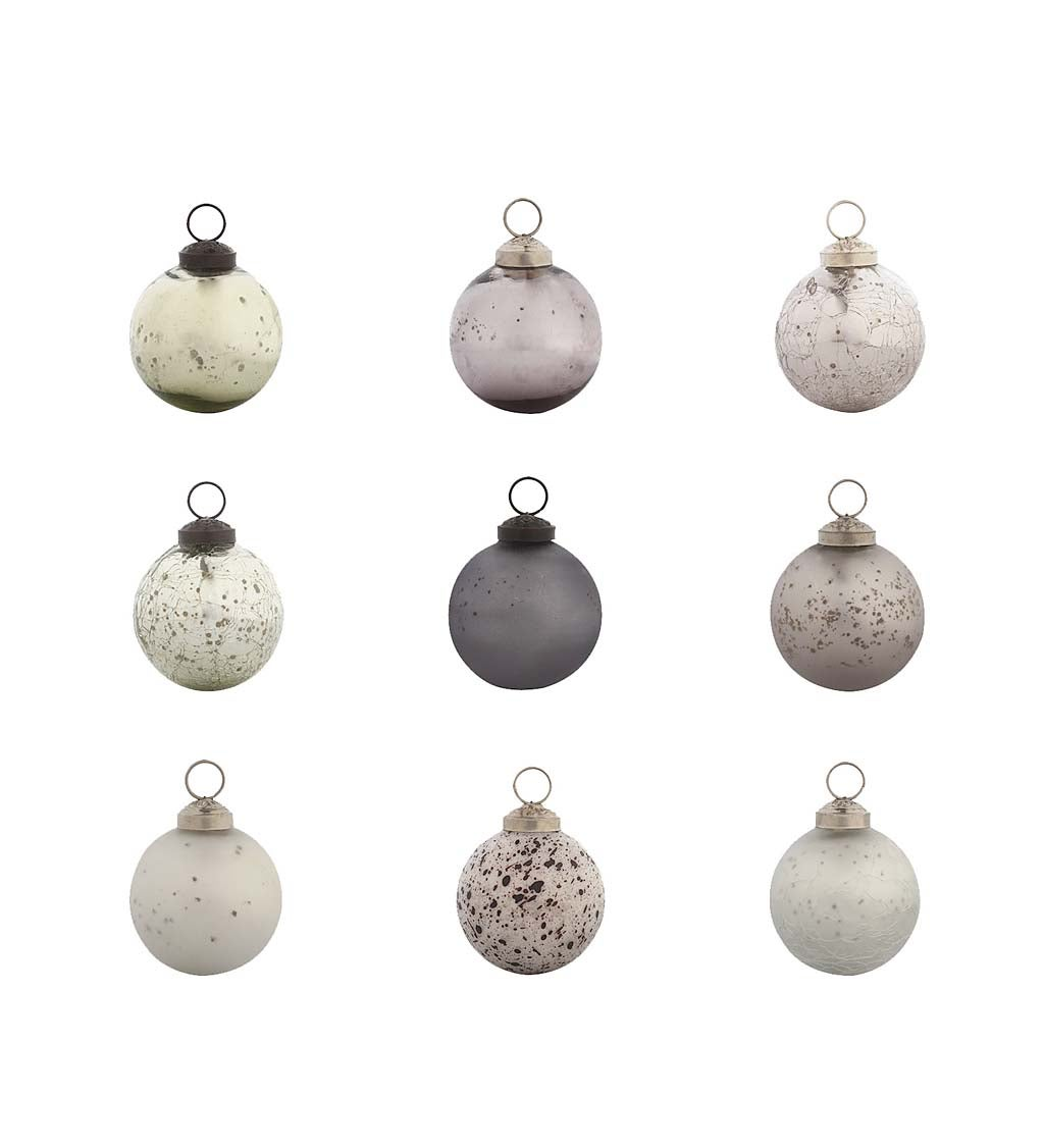 "2.5"" Christmas Chic Round Ornaments, Set of 48, Silver Collection"