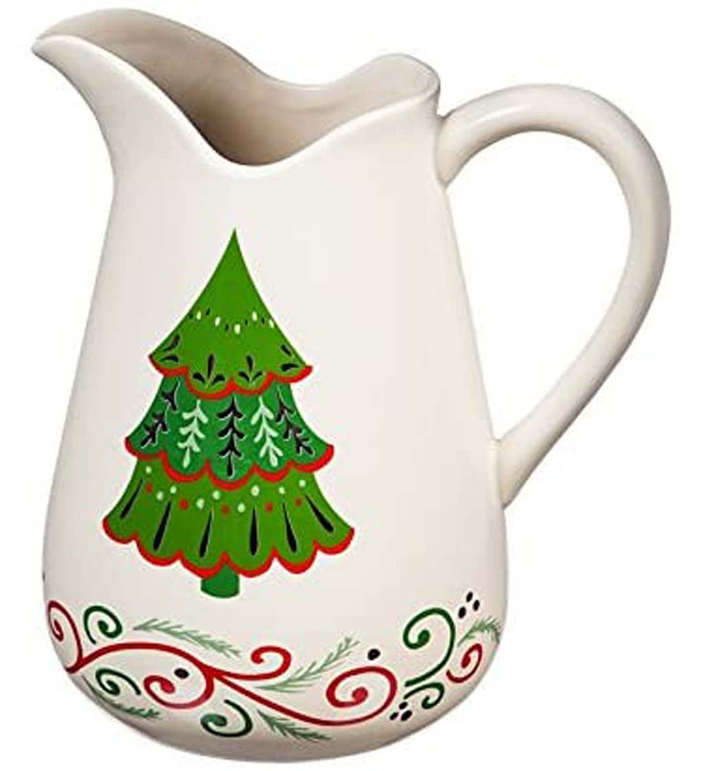 Christmas Traditions Ceramic Pitcher