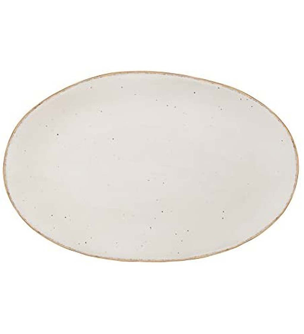 Christmas Chic Metallic Ceramic Platter