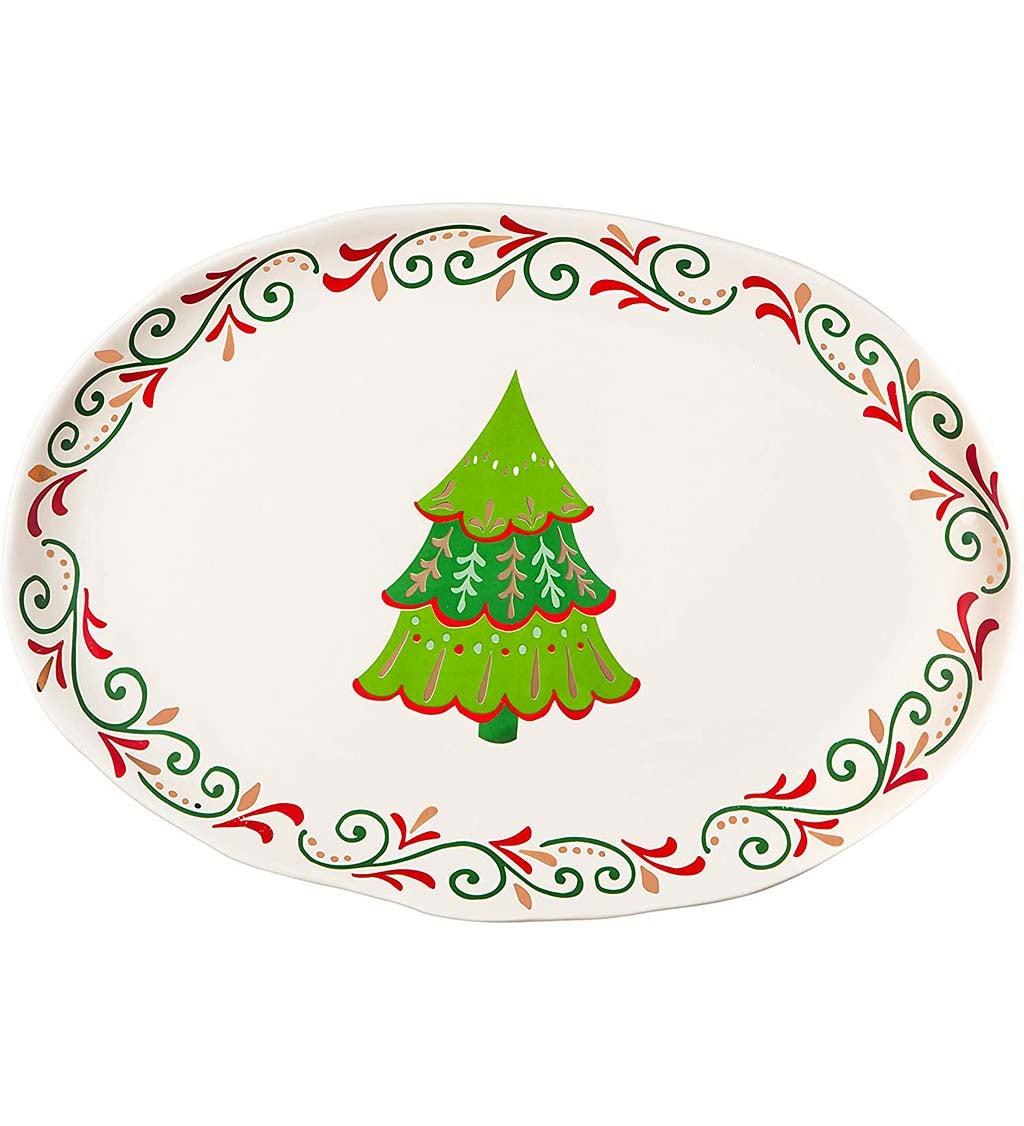 Christmas Traditions Ceramic Platter