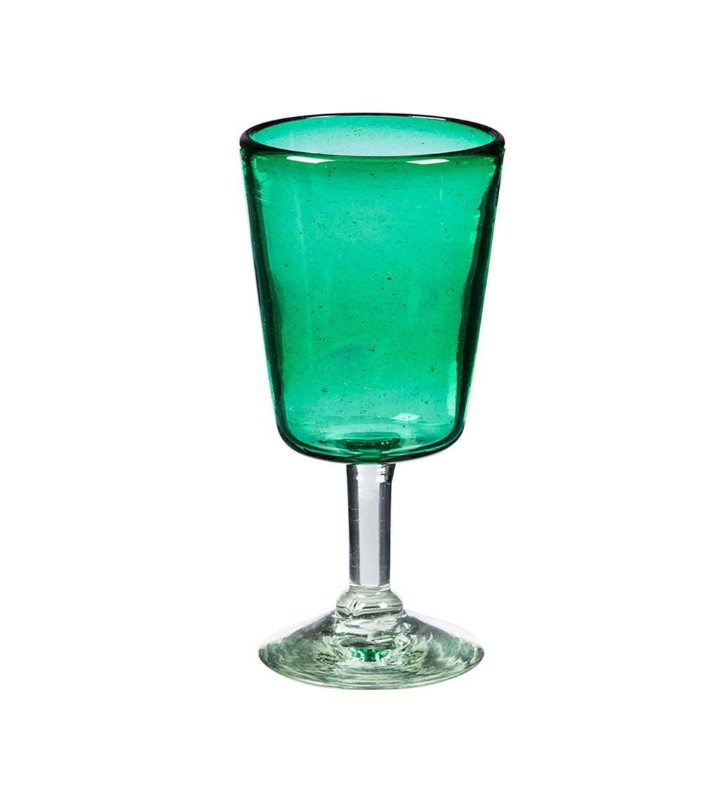 Marcel Emerald 12 OZ Recycled Glass Wine Glass