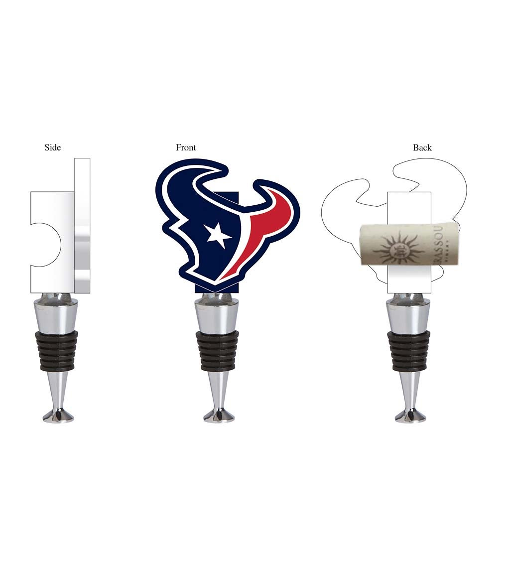 Houston Texans Logo Bottle Stopper