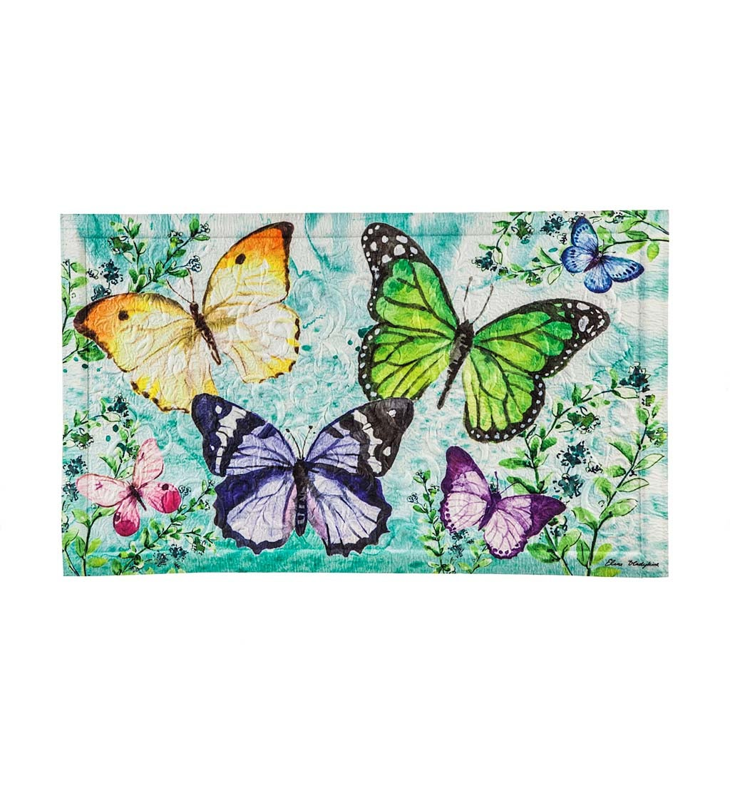 Butterfly Friends Embossed Floor Mat
