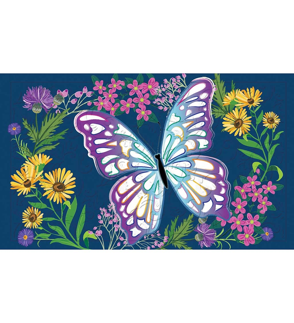 Butterfly Meadow Embossed Floor Mat
