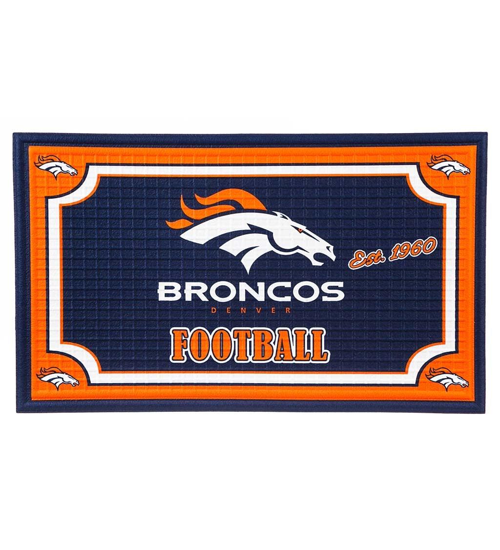 Denver Broncos Embossed Floor Mat