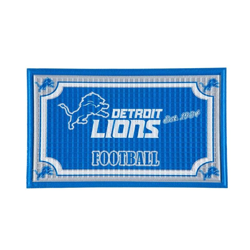 Detroit Lions Embossed Door Mat