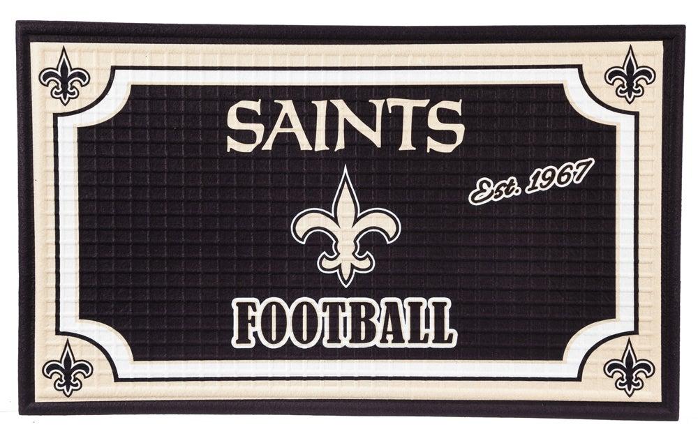 New Orleans Saints Embossed Floor Mat