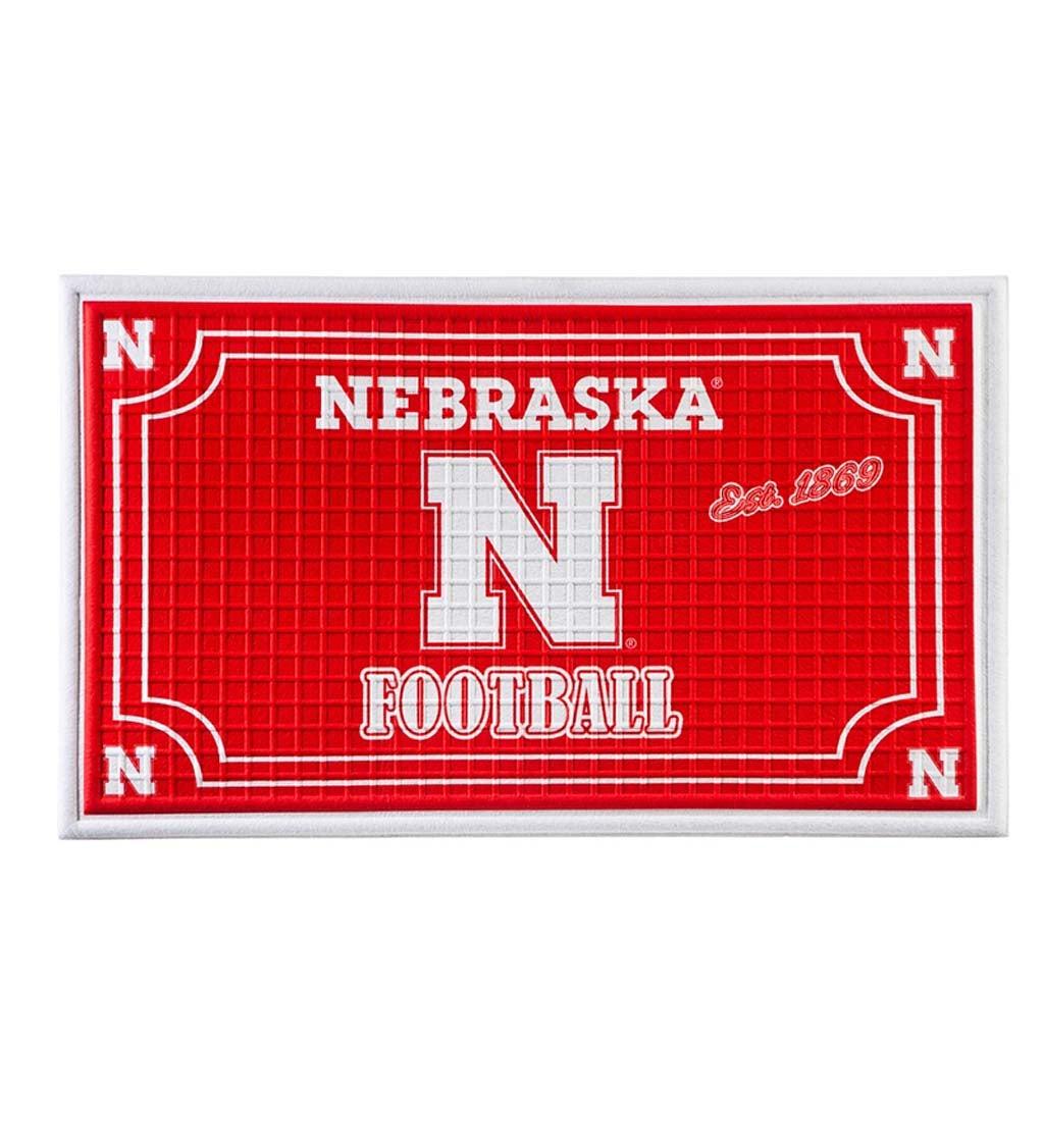 Nebraska Embossed Floor Mat