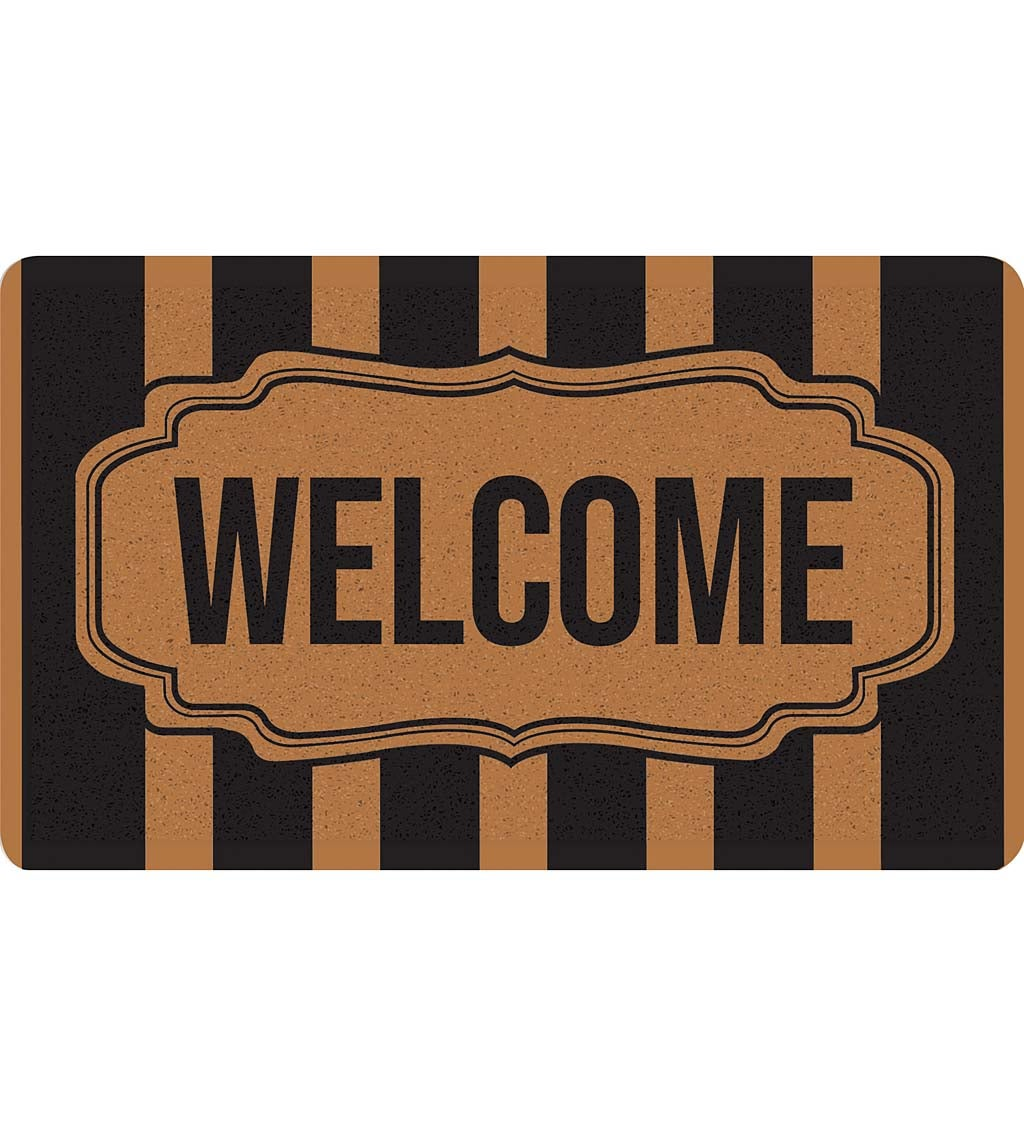 Classic Framed Welcome Antimicrobial PVC Loop Mat