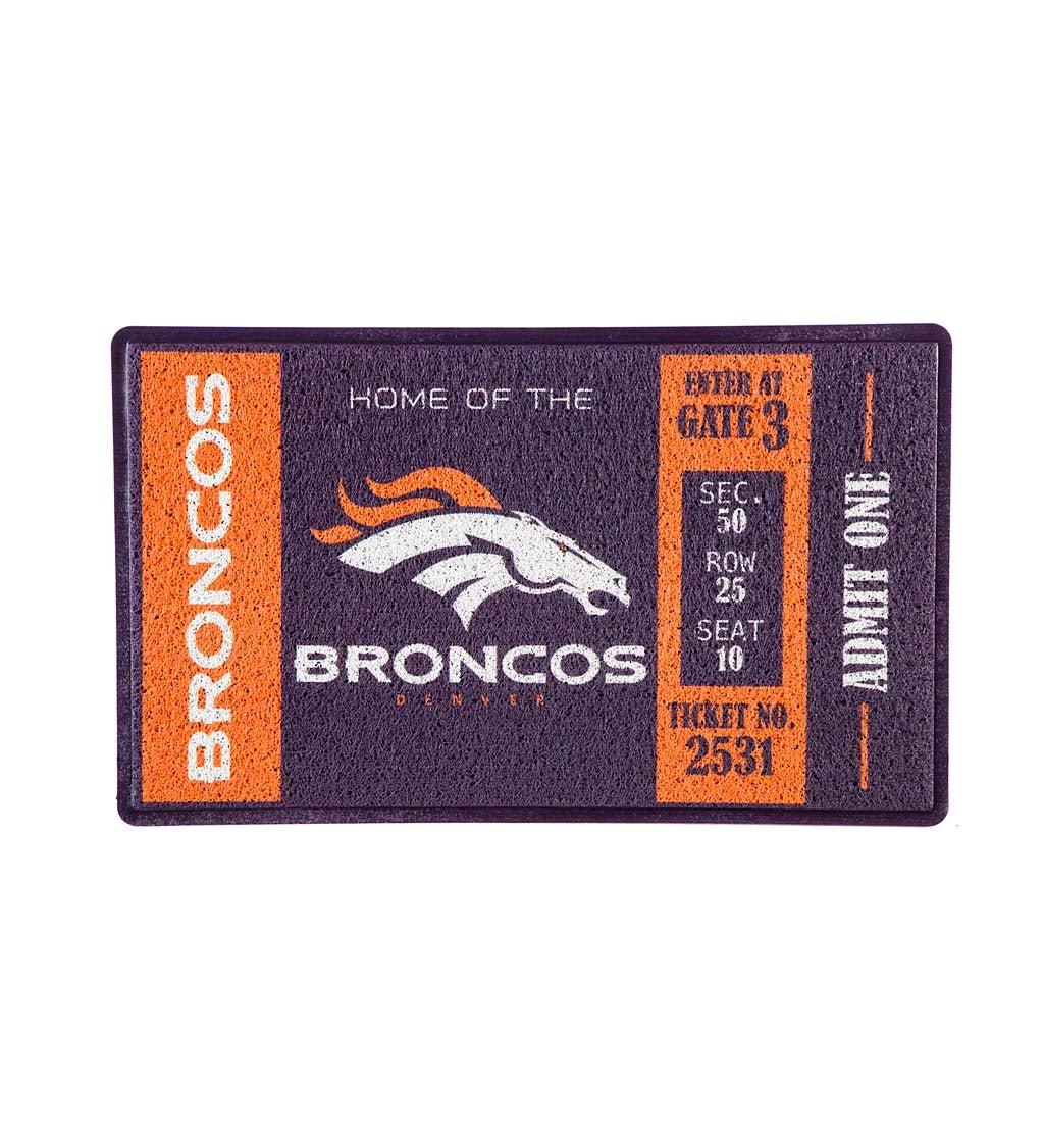 Denver Broncos Turf Trapper Mat